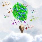 Flying elephant — Stock Photo #50352845