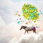 Flying zebra — Stock Photo #50353713