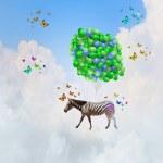 Flying zebra — Stock Photo #50353805