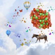 Flying zebra — Stock Photo #50353859