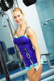Triceps workout — Stockfoto