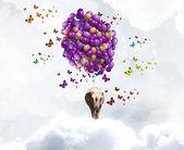Flying elephant — Stock Photo