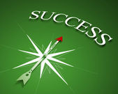 Compass of success — Stock Photo