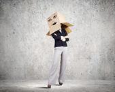 Hiding face — Stock Photo