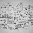 Business sketch — Stock Photo #50372063