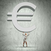 Euro raise — Stock Photo
