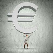 Euro raise — Stock Photo