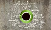 Nadszedł czas, kawa — Zdjęcie stockowe