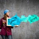Woman painter — Stock Photo #50468771