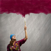 Woman painter — Stock Photo
