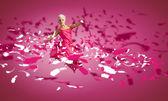 Woman dance in the air — Foto de Stock