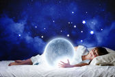 à noite a sonhar — Foto Stock