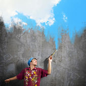 Man painter — Stock Photo