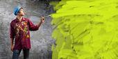 Pintor de homem — Foto Stock