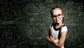 Smart schoolgirl — Stockfoto