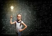 Smart skolflicka — Stockfoto