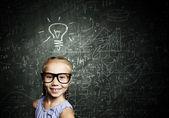 Menina inteligente — Foto Stock