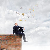 Businessman on top — Stock Photo
