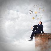 Businessman on top — Stock Photo