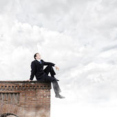 Businessman on top — Foto de Stock