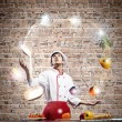Cook at kitchen — Stock Photo #50951961