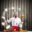 Cook at kitchen — Stock Photo #50951965