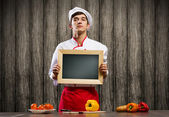 Young cook — Stockfoto