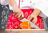 Food preparation — Stock Photo