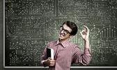 Funny scientist — Stock Photo