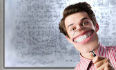 Funny botanist — Stock Photo