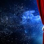 Opened curtain — Stock Photo #51142809