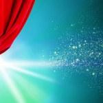 Opened curtain — Stock Photo #51142955