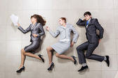 Funny businesspeople — Stockfoto
