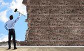 Destroying barriers — Foto Stock