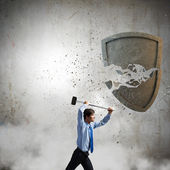 Destroying barriers — Stock Photo