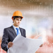 Architect looking at construction project — Stock Photo #51295781