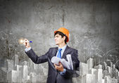 Man architect — Stock Photo