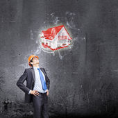 Young thoughtful man engineer — Stock Photo