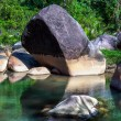 Stock Photo: Boulders in Lake