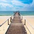 Navy Pier on the island of  Koh Samet in Thailand - Stock Photo