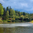 Siberian landscape with the river — Stock Photo