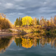 Autumn Evening on the River — Stock Photo