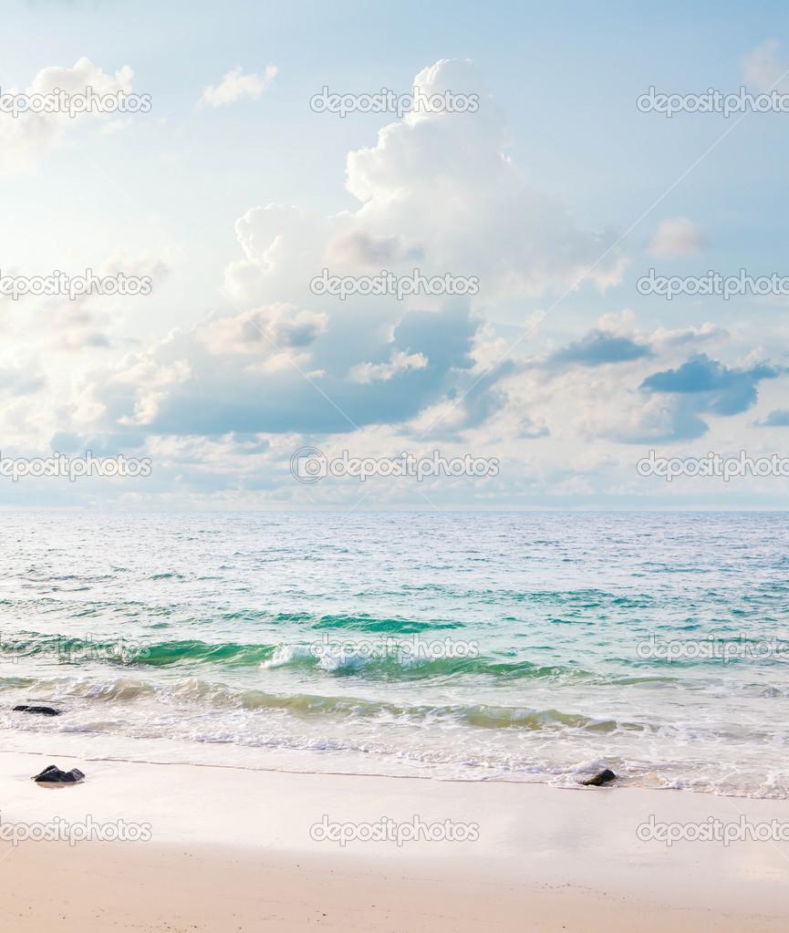 海景垂直的全景.在泰国沙美岛– 图库图片
