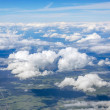 The sky and clouds. View from the airplane. — Stock Photo