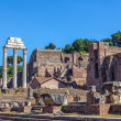 The ruins of the Temple of Castor and Pollux — Stock Photo