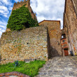 Medieval Italy. Old tower in Montecatini Alto. (HDR image) — Stock Photo