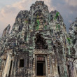The amazing architecture of ancient Bayon Temple in Cambodia — Stock Photo