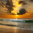 Sunset over the sea — Stock Photo