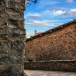 Medieval street in Montecatini Alto — Stock Photo