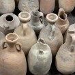 Stock Photo: Ancient amphorae. Archaeological finds.